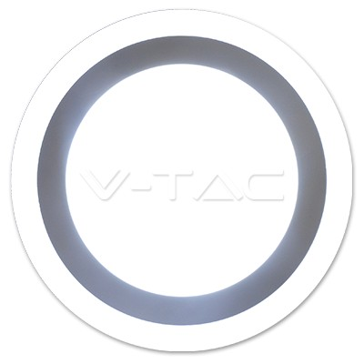 V-TAC FALON KÍVÜLI LED PANEL / 12 + 3W / KÖR / 200mm / VT-1509 hideg fehér 4895