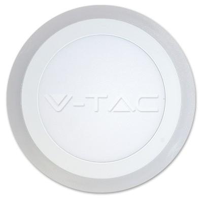 V-TAC FALON KÍVÜLI LED PANEL / 18 + 3W / KÖR / 240mm / VT-2209 nappali fehér 4897