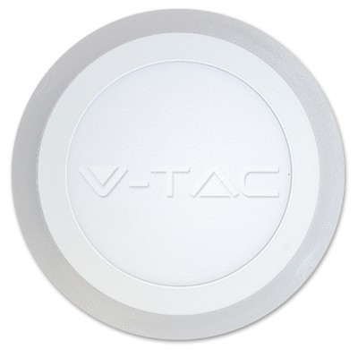 V-TAC FALON KÍVÜLI LED PANEL / 18 + 3W / KÖR / 240mm / VT-2209 hideg fehér 4898