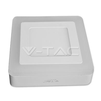 V-TAC FALON KÍVÜLI LED PANEL / 6 + 2W / NÉGYSZÖG /  VT-809 meleg fehér 4922