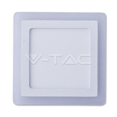 V-TAC FALON KÍVÜLI LED PANEL / 12 + 3W / NÉGYSZÖG /  VT-1509 hideg fehér 4927