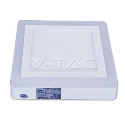 V-TAC FALON KÍVÜLI LED PANEL / 18 + 3W / NÉGYSZÖG /  VT-2209 hideg fehér 4930