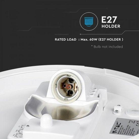 V-TAC LED MENNYEZETI LÁMPA / KÖR /  E27 / VT-8002 c / beépített mozgásérzékelő 4966