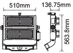 V-TAC LED REFLEKTOR / Samsung chip / 500W / dimmelhető / Maenwell tápegység / VT-503D nappali fehér 496