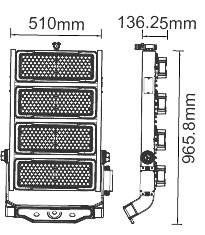 V-TAC LED REFLEKTOR / Samsung chip / 1000W / dimmelhető / Maenwell tápegység / VT-1002D nappali fehér 498