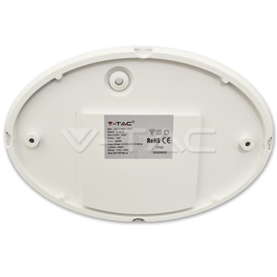 V-TAC LED MENNYEZETI LÁMPA / 12W / OVÁL/ VT-8016 nappali fehér 5054