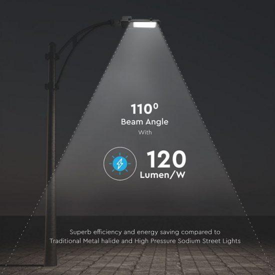 V-TAC LED UTCAI VILÁGÍTÓ / 50W / IP65 / szürke / nappali fehér - 4000K / 6000lumen / Samsung chip / VT-50ST 527