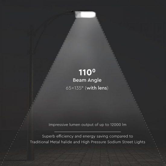 V-TAC LED UTCAI VILÁGÍTÓ / 120W / IP65 / fekete / nappali fehér - 4000K / 12000lumen / Samsung chip / VT-121ST 533