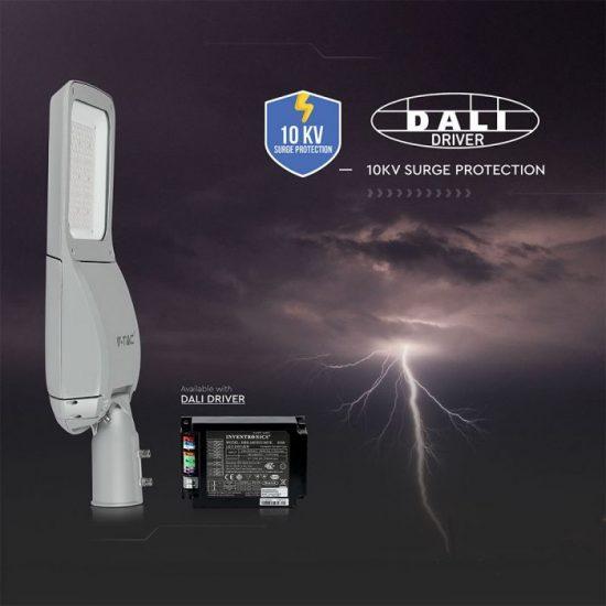 V-TAC LED UTCAI VILÁGÍTÓ / 80W / IP65 / szürke / nappali fehér - 4000K / 9600lumen / Samsung chip / VT-80ST 541