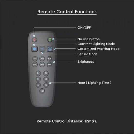 V-TAC LED NAPELEMES KERTI LÁMPA / nappali fehér - 4000K / 20W / ezüst / VT-130W 5505
