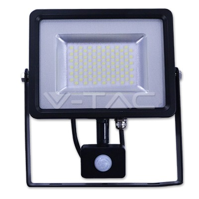 V-TAC LED MOZGÁSÉRZÉKELŐS REFLEKTOR / 30W / 2400Lumen / VT-4830 PIR meleg fehér 5699