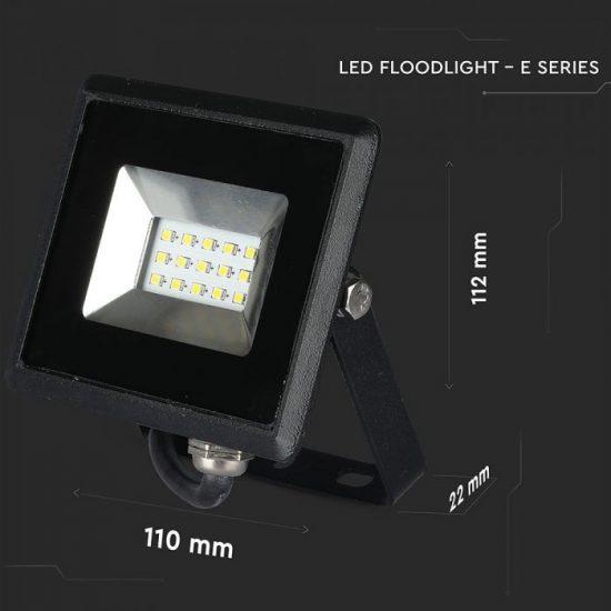 V-TAC LED REFLEKTOR / 10W /  Fekete/  VT-4611 hideg fehér 5942