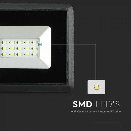V-TAC LED REFLEKTOR / 10W / fekete / IP65 / zöld fényű / VT-4011 5988