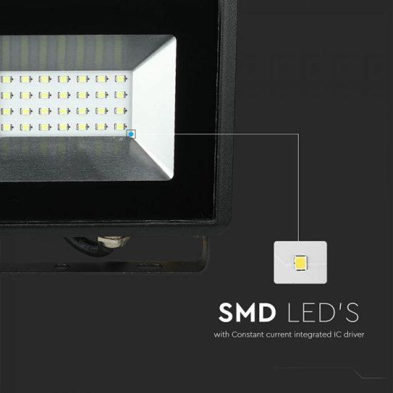V-TAC LED REFLEKTOR / 20W / fekete / IP65 / zöld fényű / VT-4021 5991