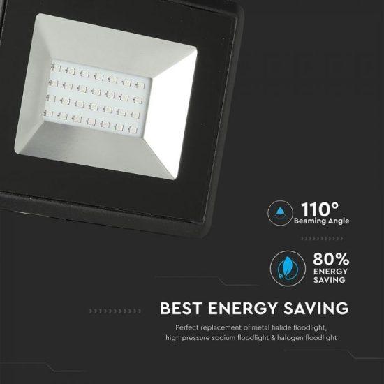 V-TAC LED REFLEKTOR / 20W / fekete / IP65 / kék fényű / VT-4021 5993