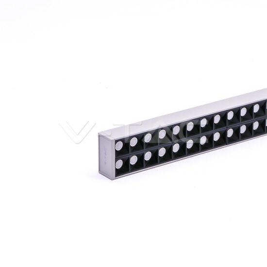 V-TAC LED KÉTIRÁNYÚ LINEÁR LÁMPATEST SODRONYOS FÜGGESZTÉKKEL / 60W / nappali fehér - 4000K / ezüst / VT-7-61 PRO607