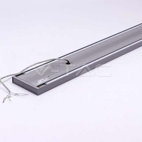 V-TAC LED KÉTIRÁNYÚ LINEÁR LÁMPATEST SODRONYOS FÜGGESZTÉKKEL / 60W / toldható / nappali fehér - 4000K / ezüst / VT-7-62 PRO609