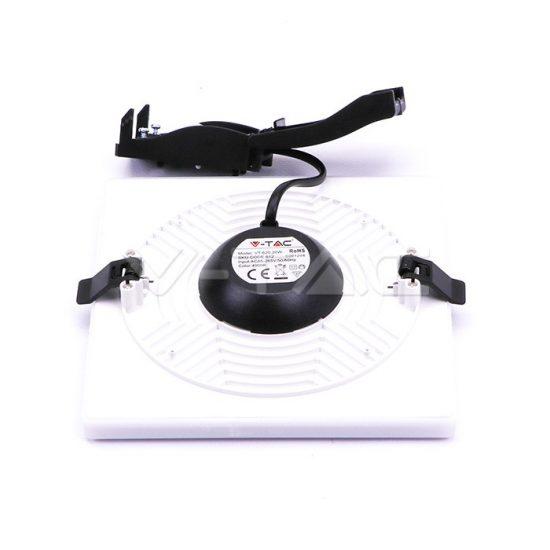 V-TAC MINI LED PANEL / 8W / Samsung chip / NÉGYSZÖG / 93mm x 93mm / VT-608SQ  meleg fehér 623