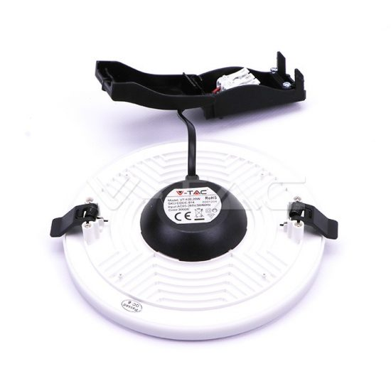 V-TAC MINI LED PANEL / 8W / Samsung chip / KÖR / 93mm / VT-608 RD meleg fehér 626