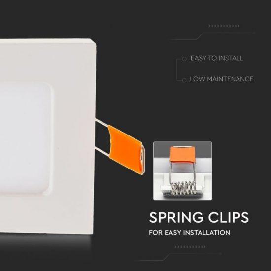 V-TAC PRÉMIUM LED PANEL / 3W / NÉGYSZÖG / 84mm / VT-307SQ meleg fehér 6295