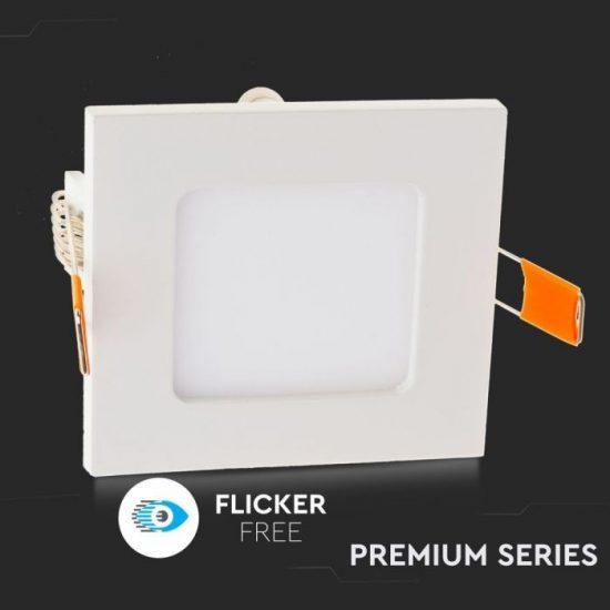 V-TAC PRÉMIUM LED PANEL / 3W / NÉGYSZÖG / 84mm / VT-307SQ hideg fehér 6297