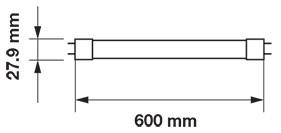 V-TAC LED T8 FÉNYCSŐ / 60cm / 10W / VT-6072 meleg fehér 6392