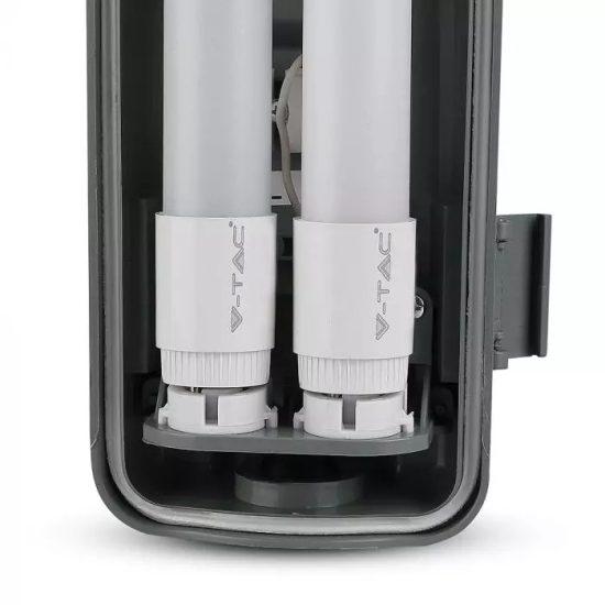 V-TAC LED VÍZMENTES LÁMPATES 2db LED FÉNYCSŐVEL / 36W(2x18W) / 120cm VT-12023 hideg fehér 6399