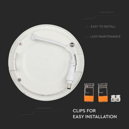 V-TAC PRÉMIUM LED PANEL / 22W / KÖR / 240mm/VT-2207RD meleg fehér 6422