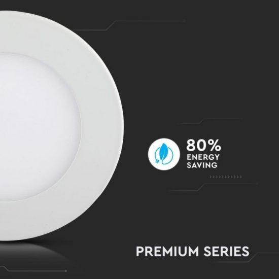 V-TAC PRÉMIUM LED PANEL / 22W / KÖR / 240mm/VT-2207RD nappali fehér 6423