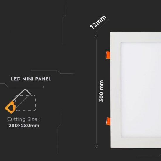 V-TAC PRÉMIUM LED PANEL / 36W / NÉGYSZÖG / 300 x 300mm / VT-3107 hideg fehér 6431