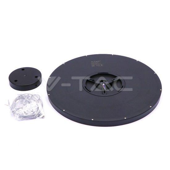 V-TAC FALON KÍVÜLI LED PANEL / 40W / FÜGGESZTHETŐ KÖR / 400mm / VT-6141 nappali fehér 6433