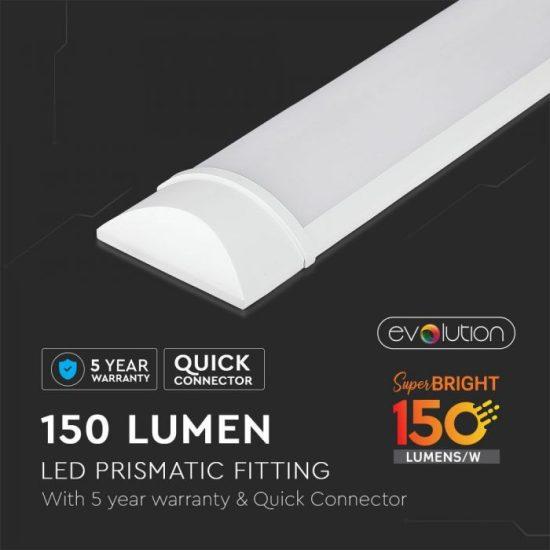 V-TAC LED BÚTORVILÁGÍTÓ / Samsung chip / 120cm / meleg fehér - 3000K / 30W / fehér / IP20 / VT-8330 6490