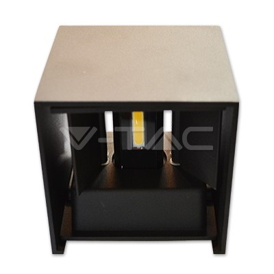 V-TAC REJTETT FALI LÁMPA / 6W / fekete / 660Lumen / VT-759 meleg fehér / 7078