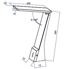 V-TAC LED ASZTALI LÁMPA / IP20 / fehér-ezüst / 4W VT-1014 7098