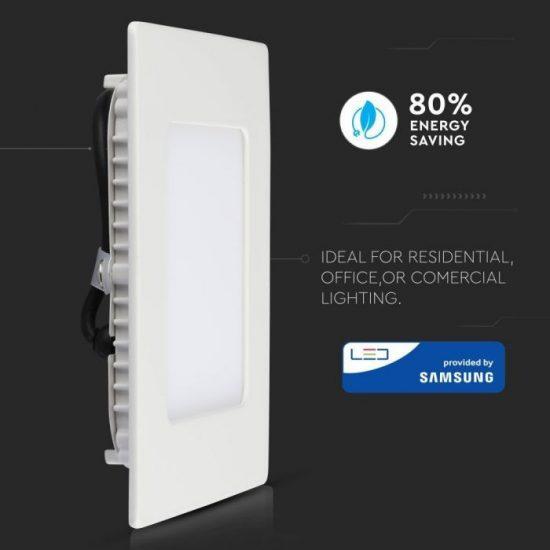 V-TAC MINI LED PANEL / 12W / Samsung chip / NÉGYSZÖG / 170 x 170mm / VT-612SQ meleg fehér 709