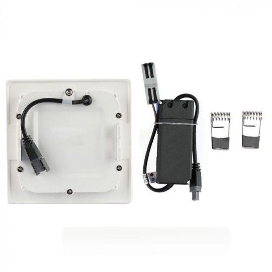 V-TAC MINI LED PANEL / 18W / Samsung chip / NÉGYSZÖG / 225 x 225mm / VT-618SQ nappali fehér 716