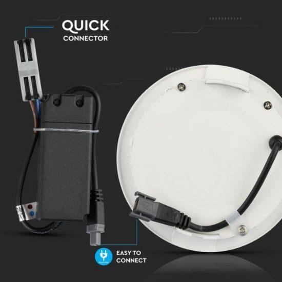 V-TAC MINI LED PANEL / 18W / Samsung chip / KÖR / 225mm / VT-618RD hideg fehér 720