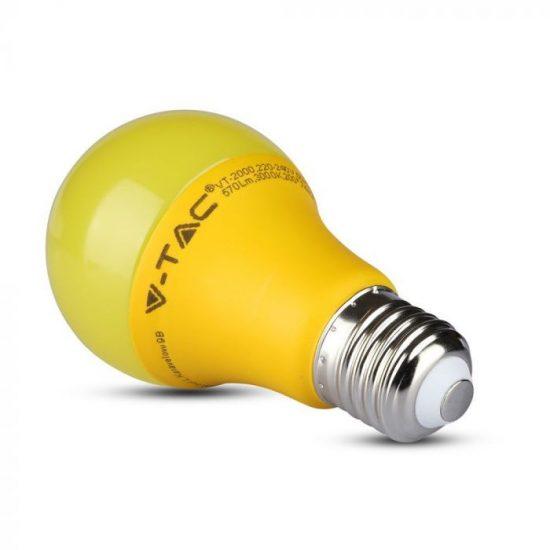 V-TAC LED IZZÓ / E27 / 9W / sárga / VT-2000 meleg fehér 7342