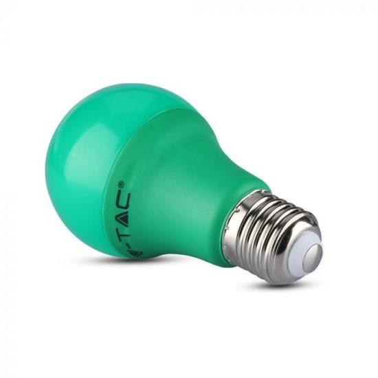 V-TAC LED IZZÓ / E27 / 9W / zöld / VT-2000 meleg fehér 7343