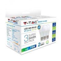 V-TAC LED IZZÓ szett / 3db / E27 / 11W / VT-2113 hideg fehér 7354