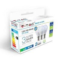 V-TAC LED IZZÓ szett / E14 / 3 db /  5,5W / VT-2156 nappali fehér 7358