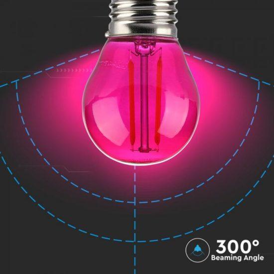 V-TAC LED FILAMENT IZZÓ / E27 / 2W / pink /  VT-2132  7410