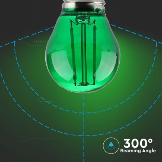 V-TAC LED FILAMENT IZZÓ / E27 / 2W / zöld /  VT-2132  7411