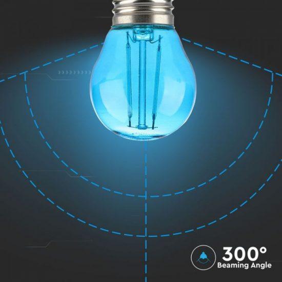 V-TAC LED FILAMENT IZZÓ / E27 / 2W / kék /  VT-2132  7412