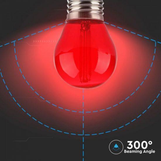V-TAC LED FILAMENT IZZÓ / E27 / 2W / piros /  VT-2132  7413