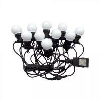 V-TAC LED IZZÓ FÜZÉR DUGVILLÁVAL / 5m / meleg fehér - 3000K / 0,5W x 10 / VT-70510 7436