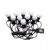 V-TAC LED IZZÓ FÜZÉR DUGVILLÁVAL / 5m / hideg fehér - 6000K / 0,5W x 10 / VT-70510 7437
