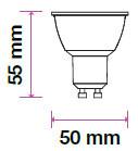 V-TAC LED SPOT/ GU10 / 38°/ 6W / CRI>95 magas szín visszaadás / hideg fehér - 6400K / 400lumen / VT-2206 7499