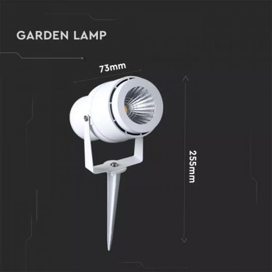 V-TAC LED KERTI LÁMPA / 50cm vezeték / zöld / 12W / fehér / VT-857 7549