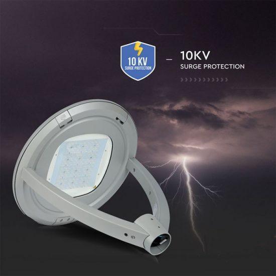 V-TAC LED KERTI-UTCAI VILÁGÍTÓ / 100W / IP65 / szürke / nappali fehér - 4000K / 13000lumen / Samsung chip / VT-105 783